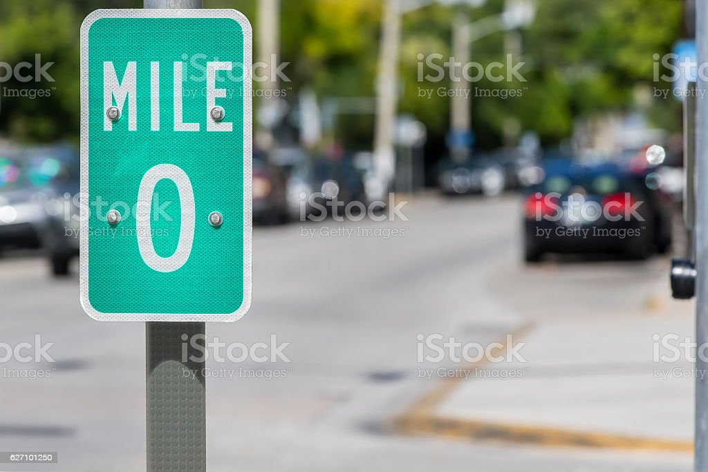 Highway 1 In Key West, Florida stock photo