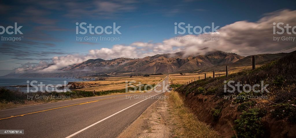 Highway 1 scenic route stock photo