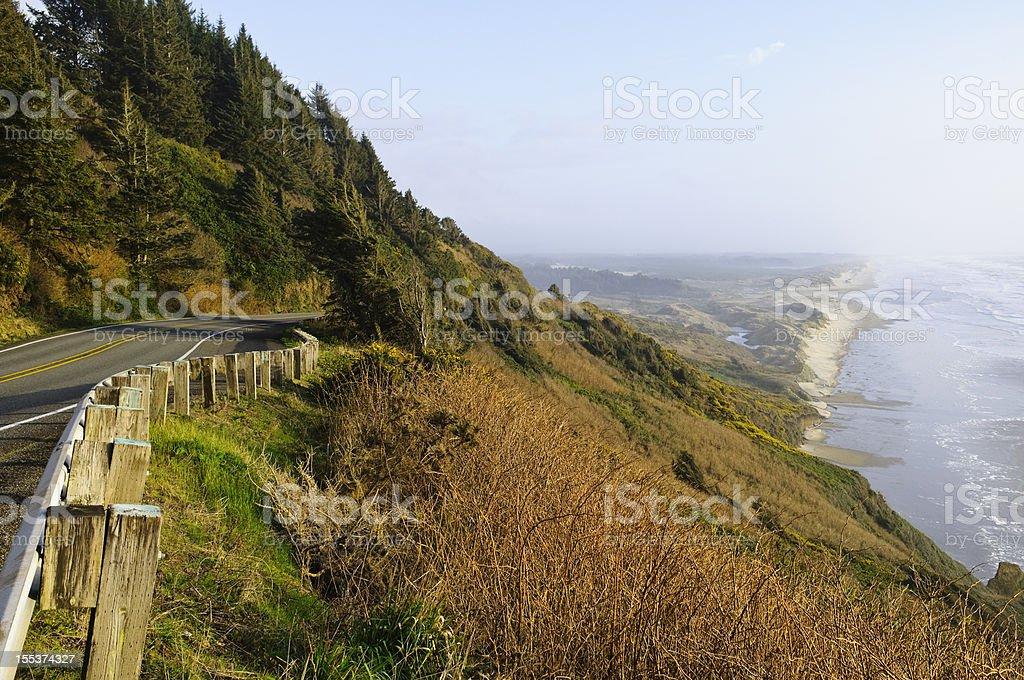 Highway 101 on Oregon Coast royalty-free stock photo