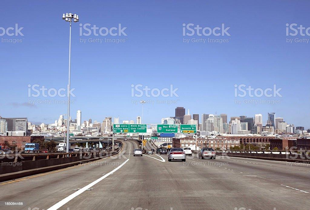 Highway 101 Split royalty-free stock photo
