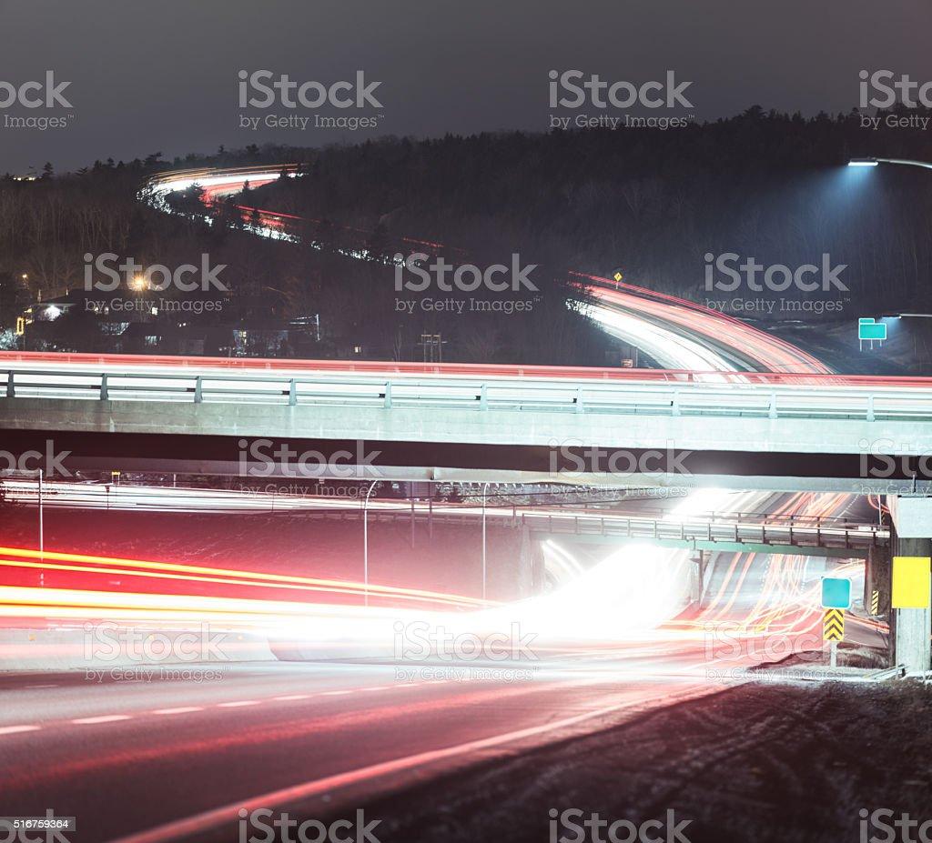 Highway 102 Traffic stock photo
