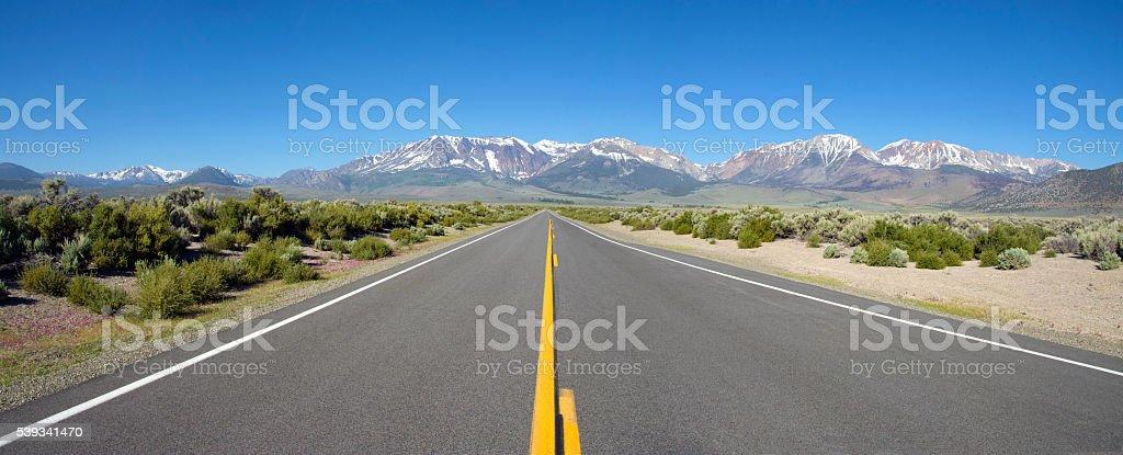 Highway 120 panorama stock photo