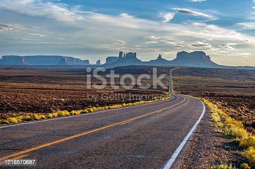 Highway 163 in Monument Valey National Park, Utah, Southwest USA,Nikon D3x