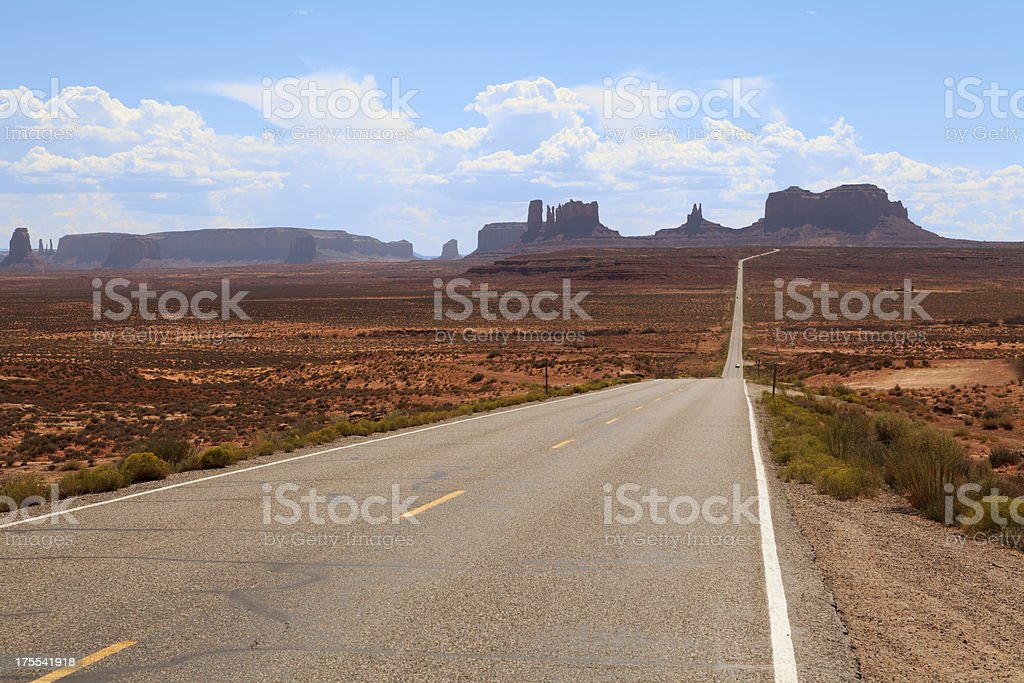 Highway 163 leading to Monument Valley, USA.