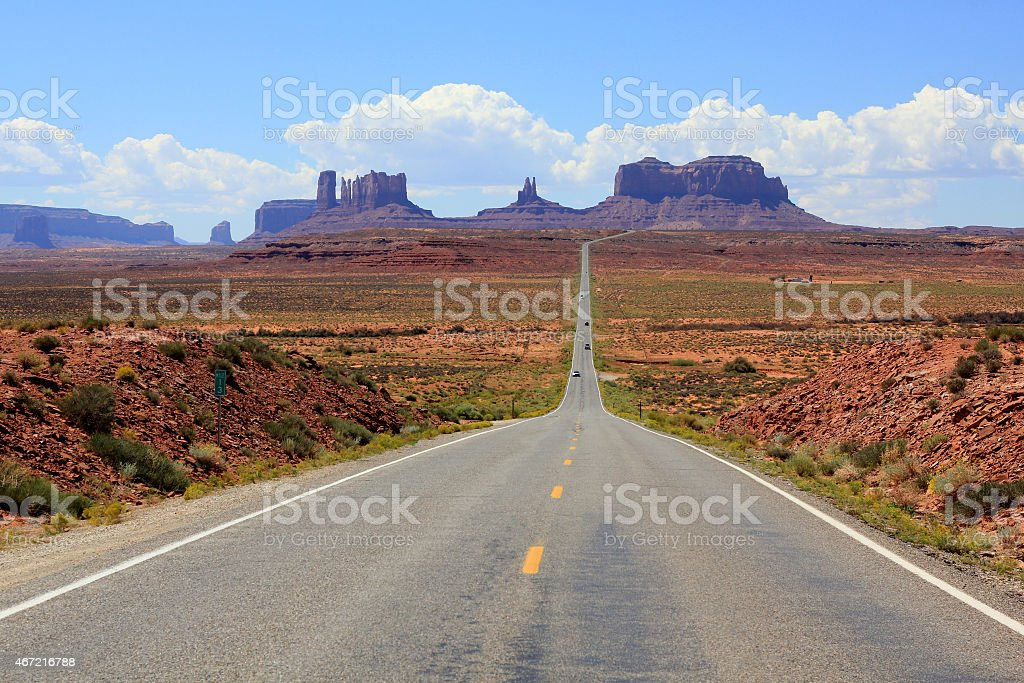 Highway 163 to Monument Valley stock photo