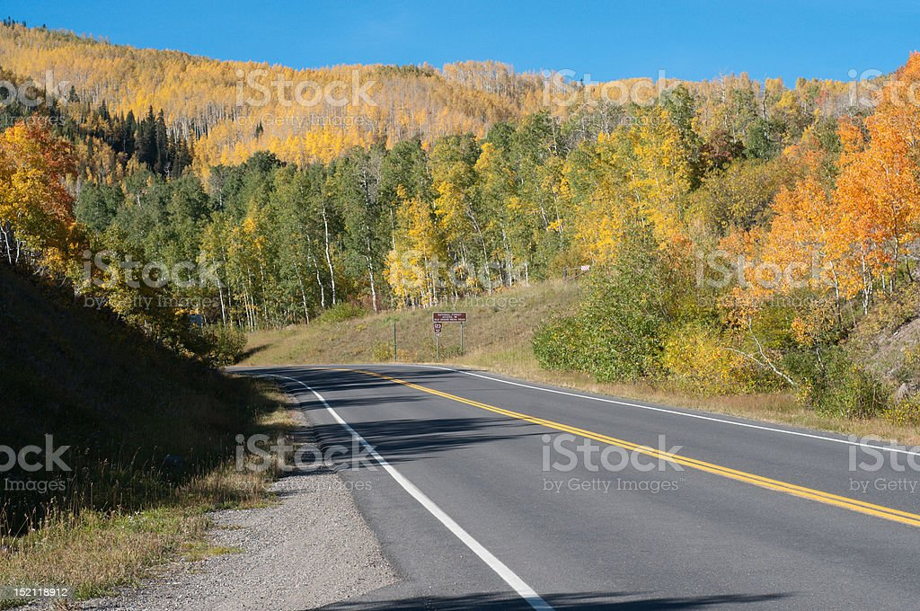 Highway 165 in Autumn stock photo