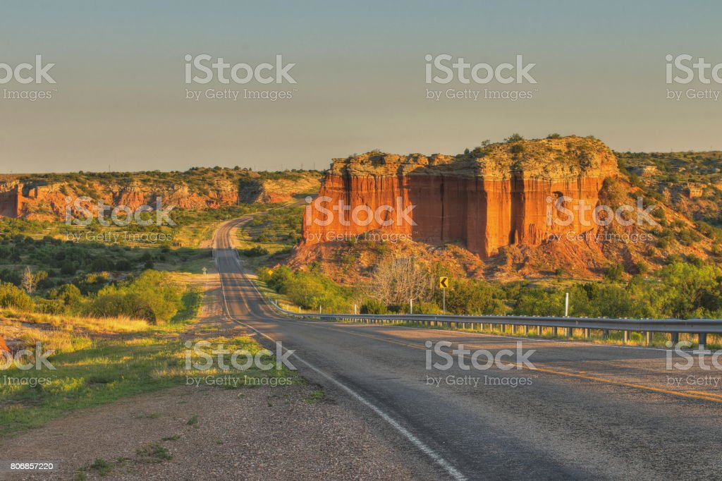 Highway 207, Texas USA stock photo