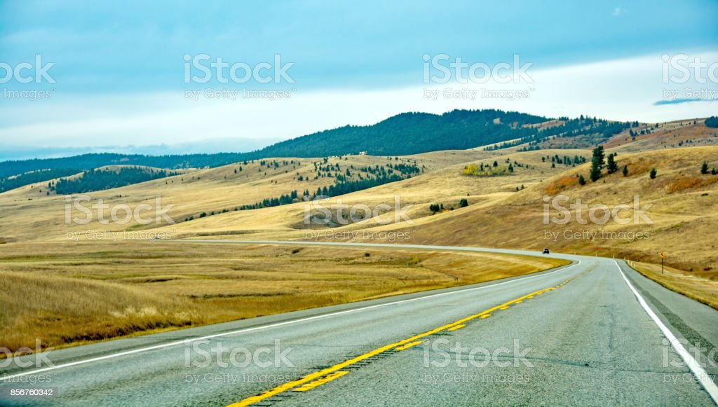 Highway 22, the Cowboy Trail, Southern Alberta stock photo