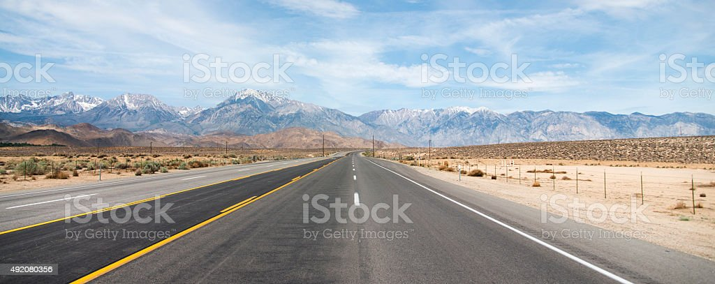 Highway 395 stock photo