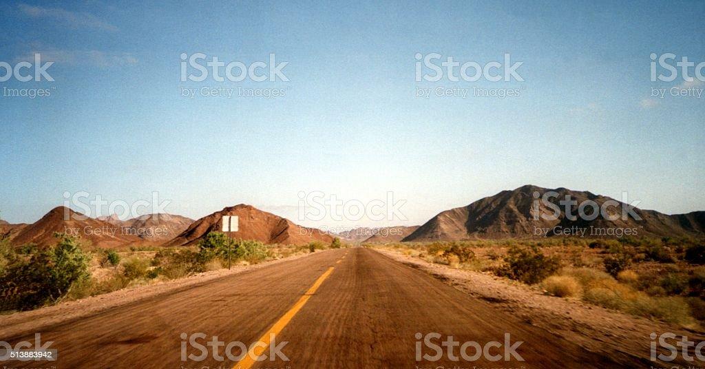 Highway 5 from San Felipe to Puertecitos, Baja California stock photo