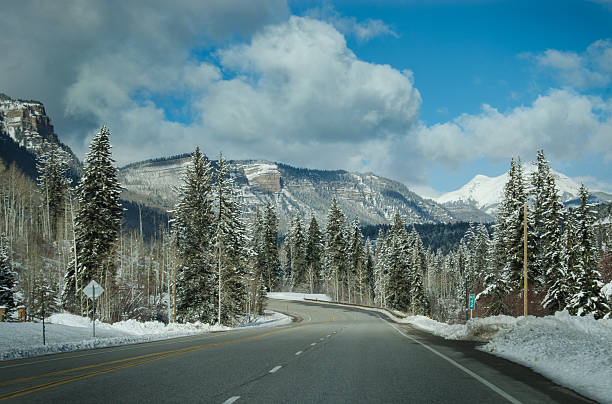 Highway 550 in Durango/San Juan National Forest stock photo
