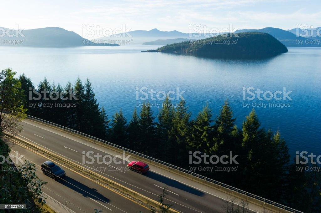 Highway 99 in summer stock photo