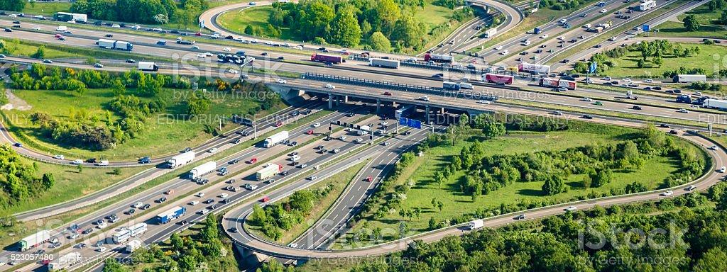 Highway A3 Frankfurt Cross stock photo