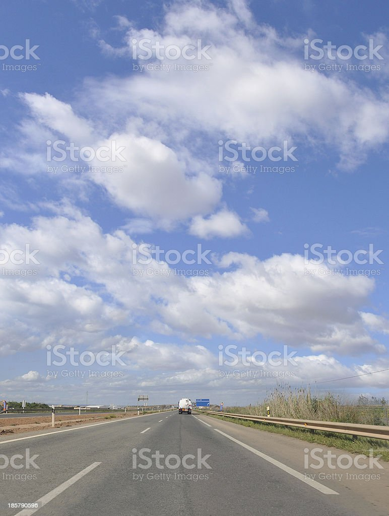 Highway A31 Spain Europe royalty-free stock photo