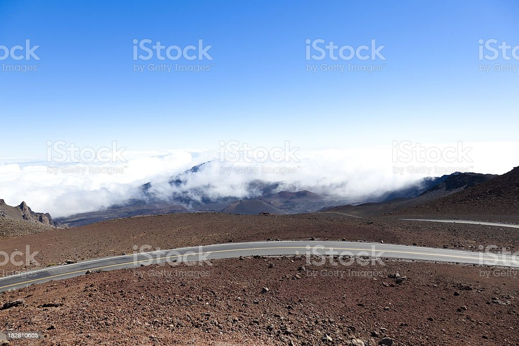 highway above the clouds royalty-free stock photo