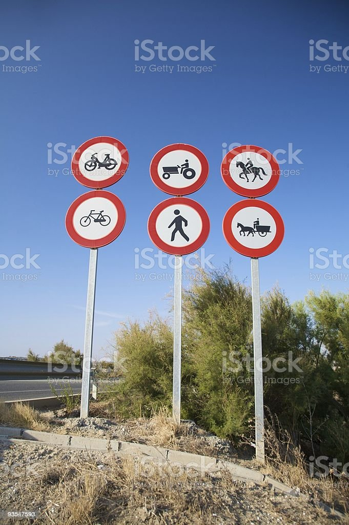 highway access signals royalty-free stock photo