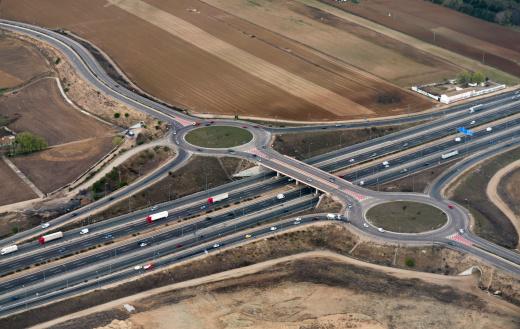 Aérea De Madrid Highway Foto de stock y más banco de imágenes de Aire libre