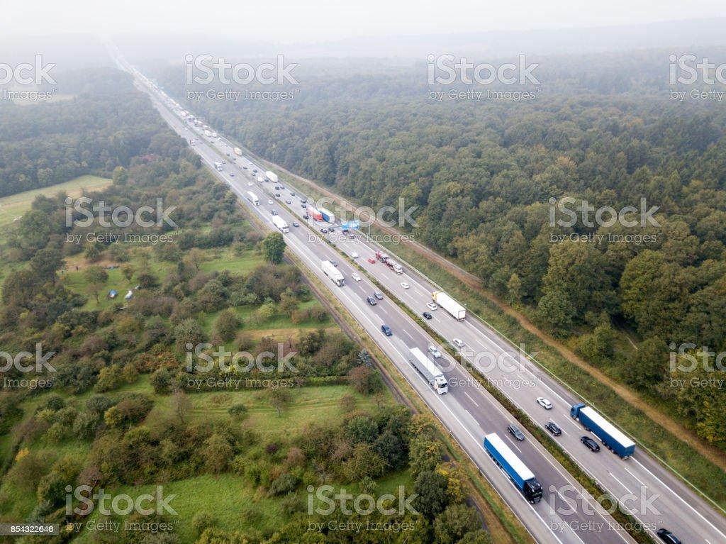 Highway Luftaufnahme Lizenzfreies stock-foto