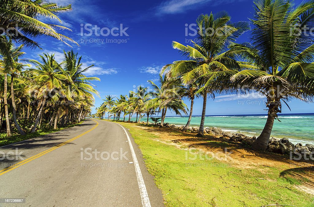 Highway and Coast stock photo