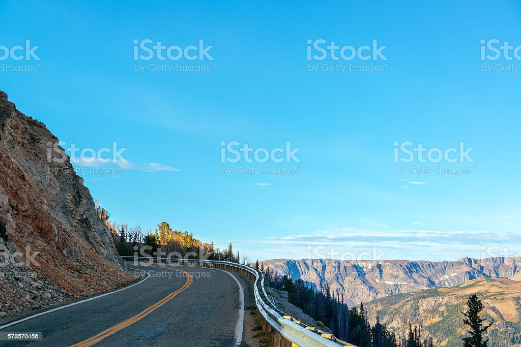 Highway and Mountains stock photo