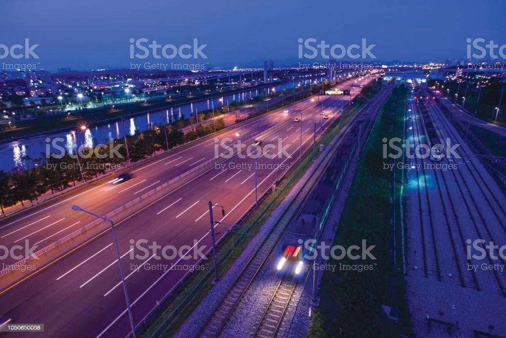 Vdcm001 Highway And Railroad Of Gangbyun Buk Ro Of Han