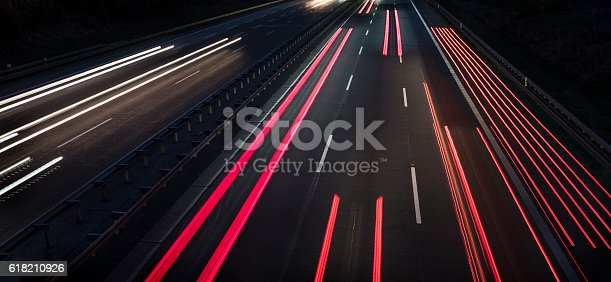 istock Highway at dusk - long exposure 618210926