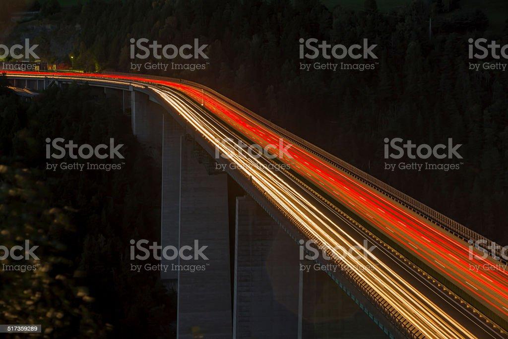 Highway bei Nacht-Brenner-Autobahn – Foto