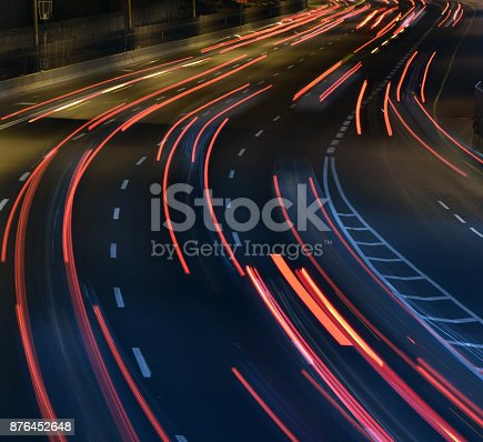 istock A highway at night , long exposure 876452648