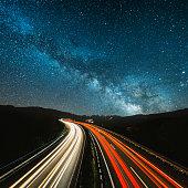 istock Highway at night 539234032