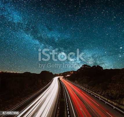 539234032istockphoto Highway at night 874982998