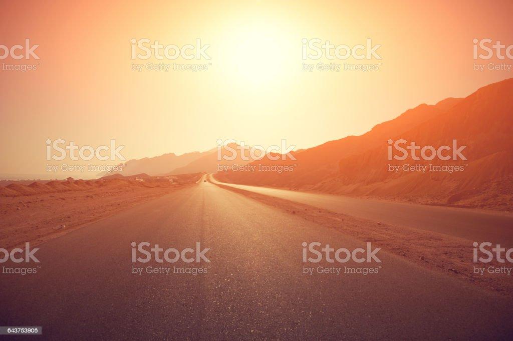 route au lever du soleil - Photo