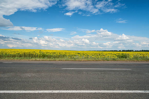 Highway background stock photo
