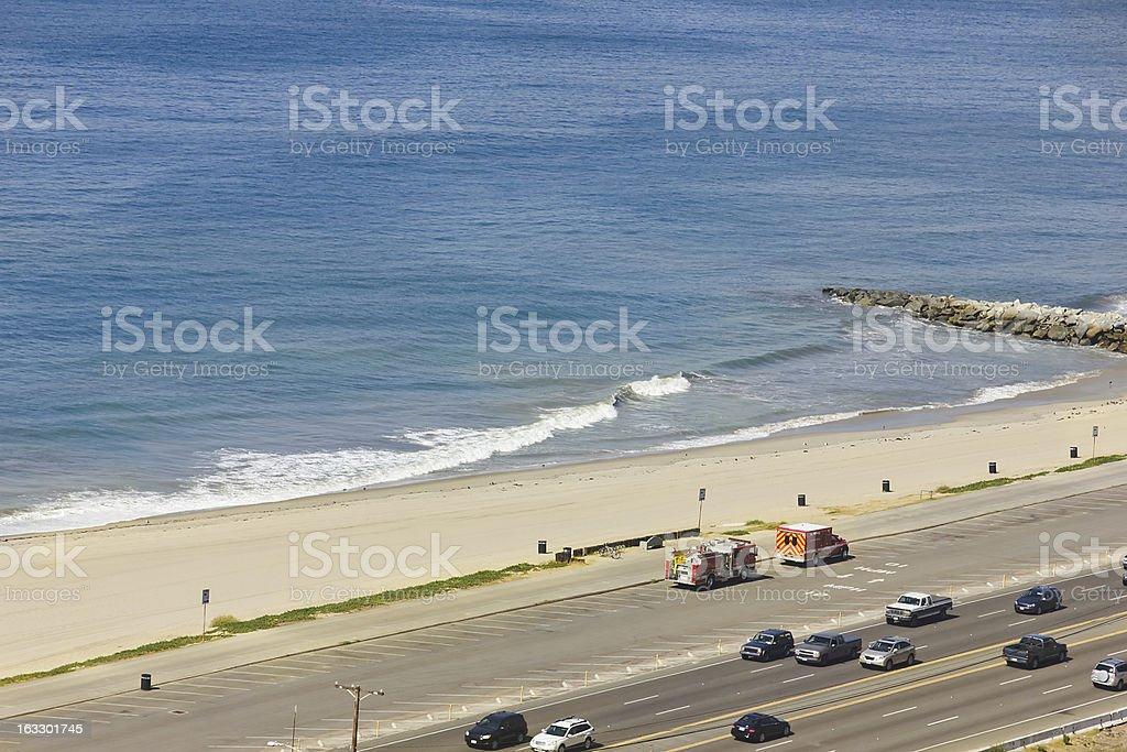 Highway Beach royalty-free stock photo