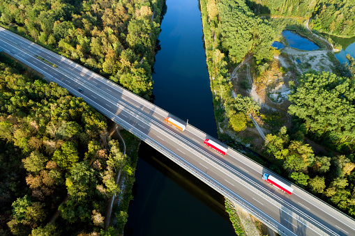 Highway Bridge, Aerial View