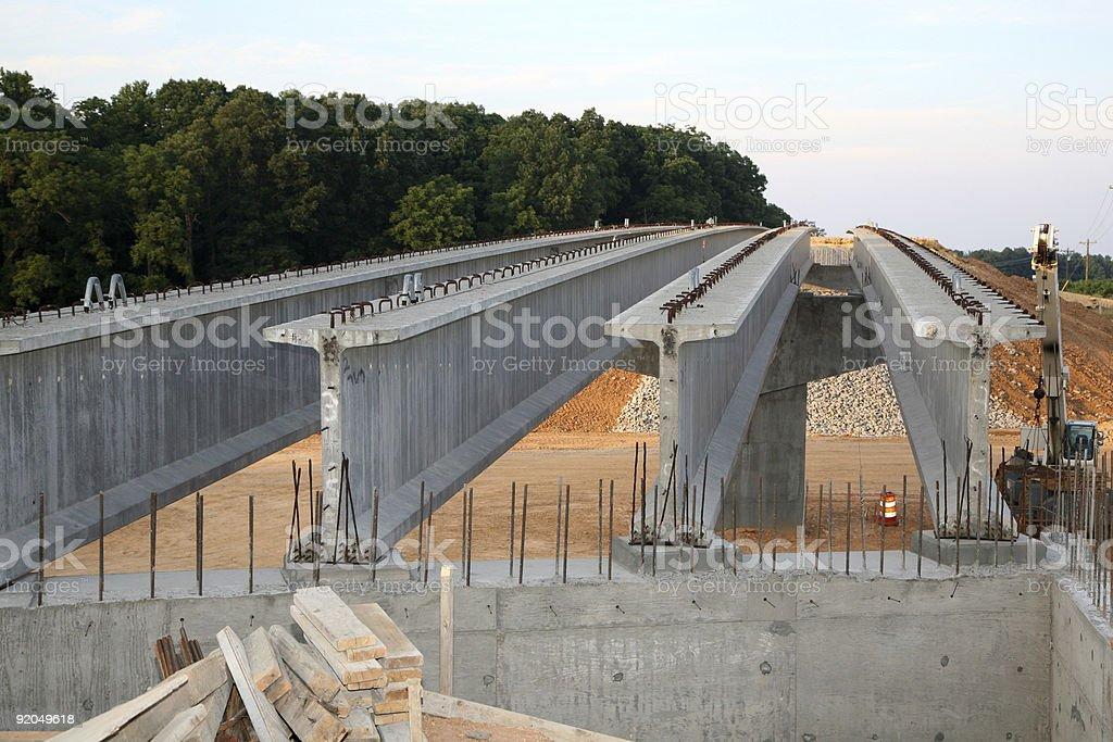 Highway bridge construction royalty-free stock photo