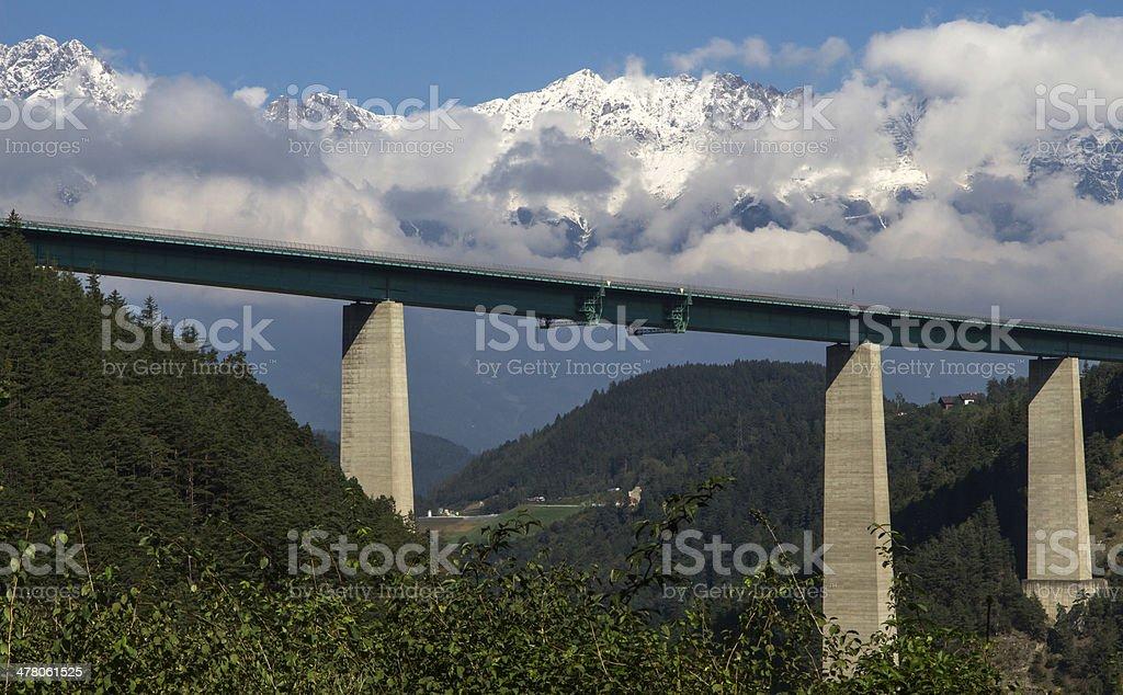 Highway Brücke Kreuzung Österreich auf dem Weg nach Italien – Foto