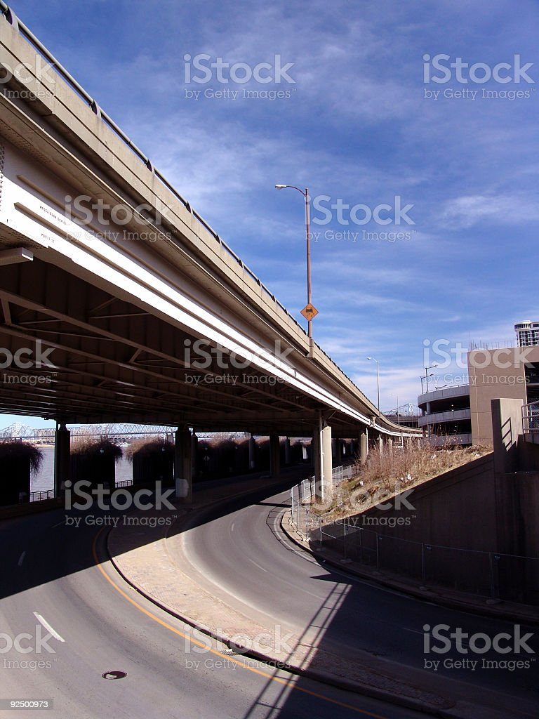 Highway Bridge in City royalty-free stock photo