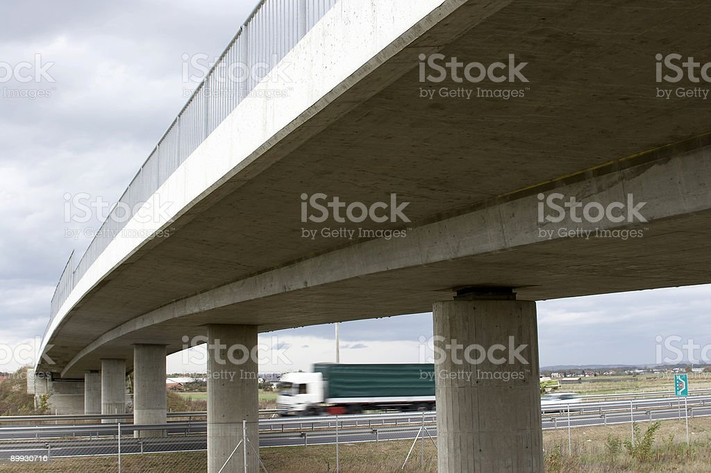 Highway bridge stock photo