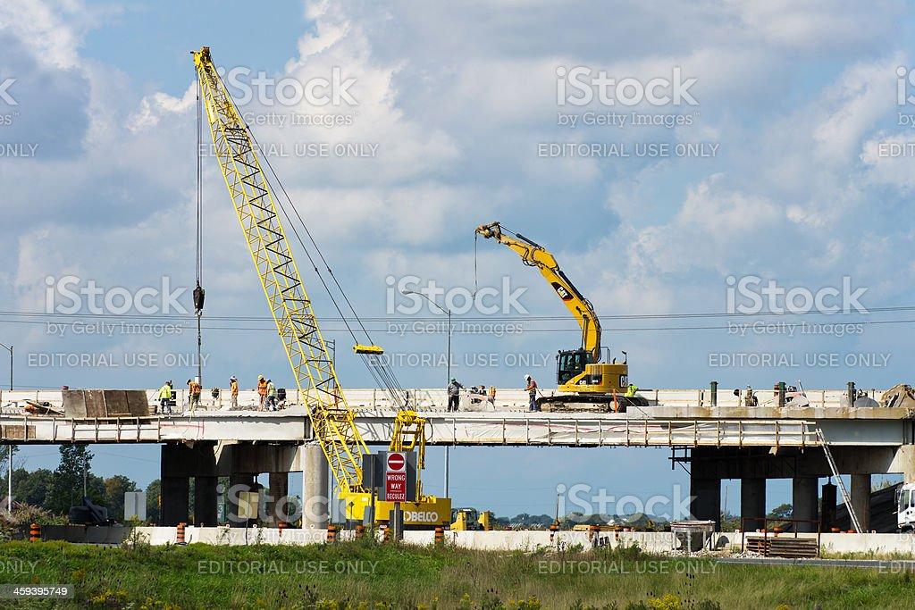 Highway Bridge Repairs royalty-free stock photo