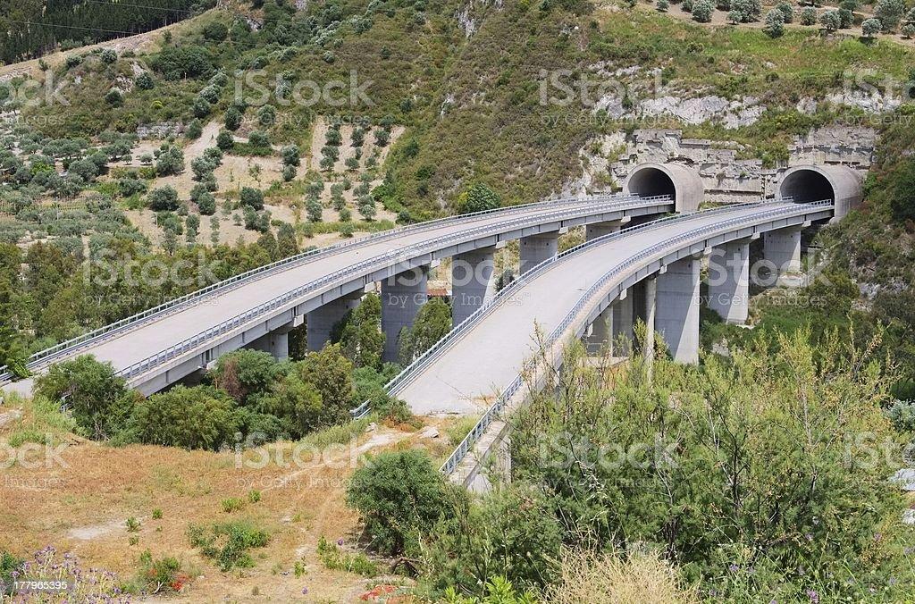 highway bridge to nowhere royalty-free stock photo