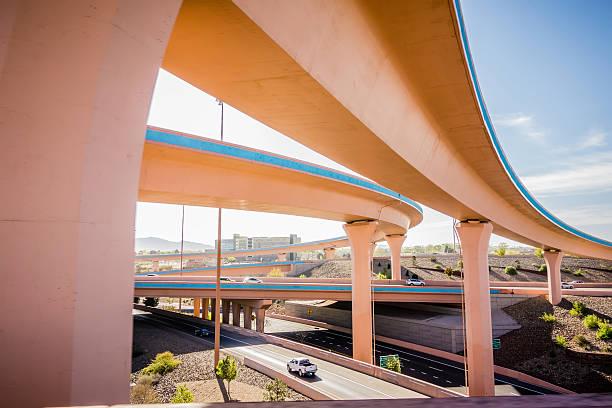 highway bridges near Albuquerque new mexico stock photo