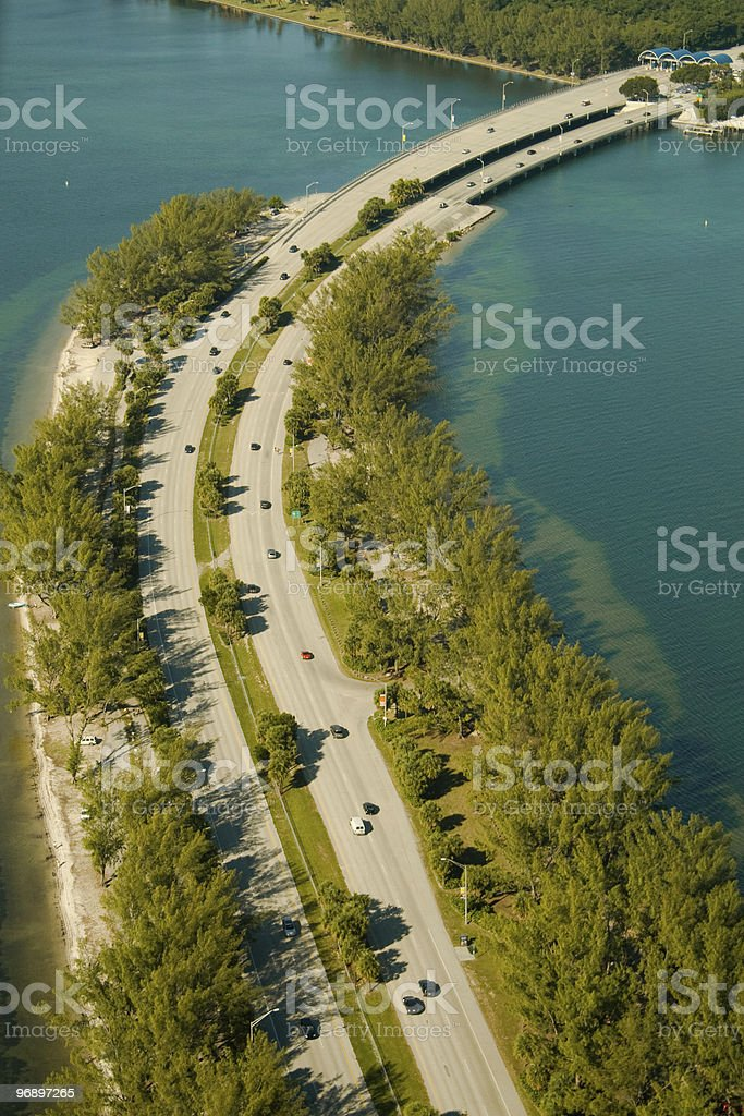 Highway by the water royalty-free stock photo