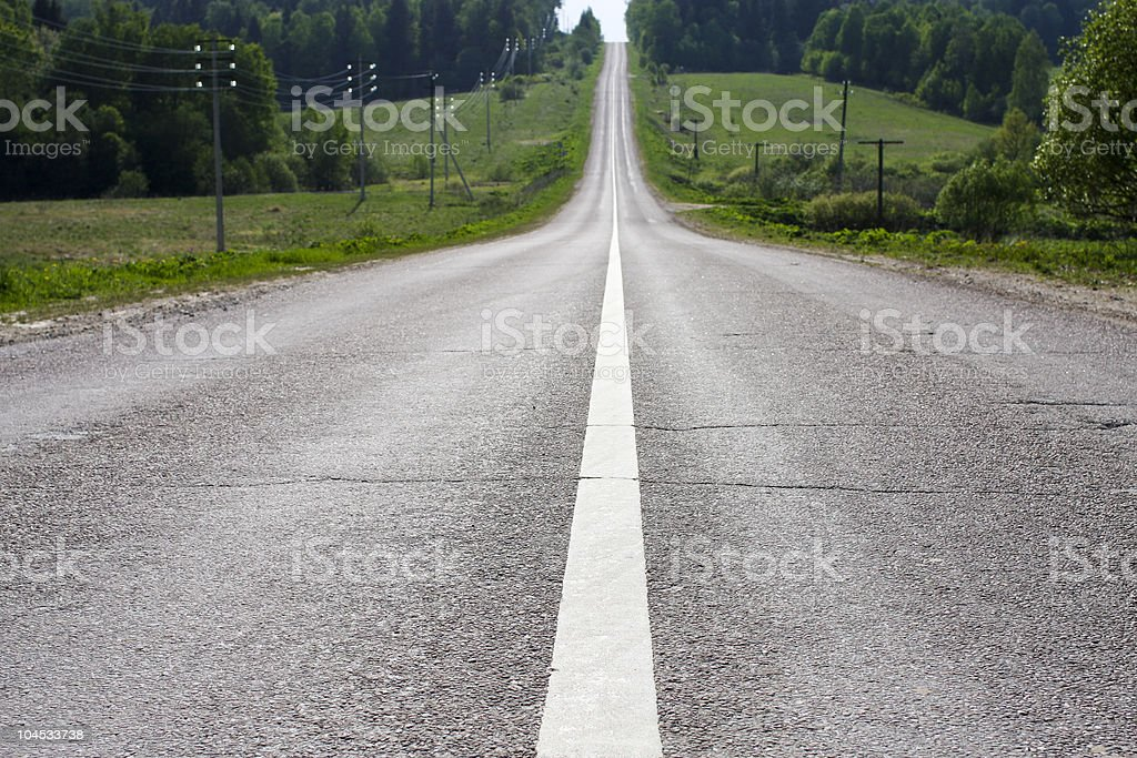 Highway close-up. royalty-free stock photo