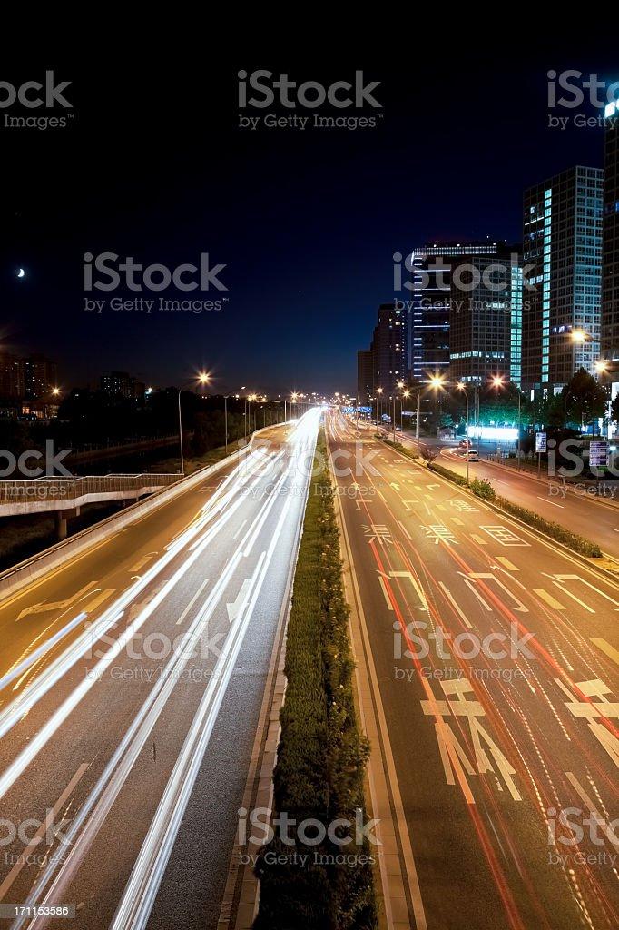 Highway crossing Beiijng CBD royalty-free stock photo