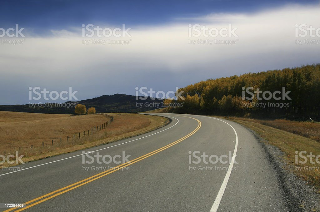 Highway Curve royalty-free stock photo