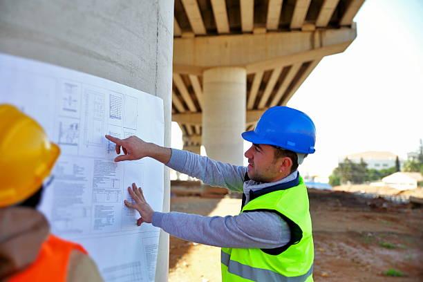 Highway engineer stock photo