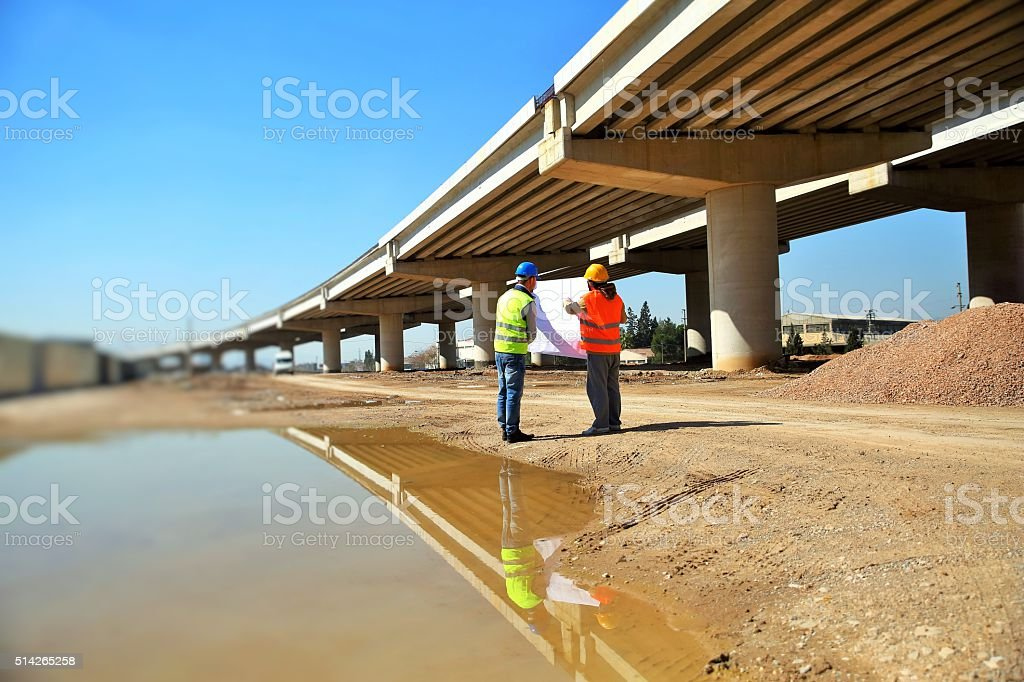Highway engineer stock photo