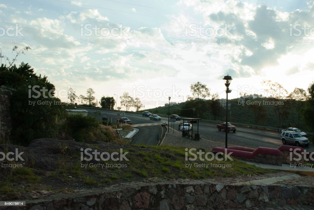 highway entrance stock photo