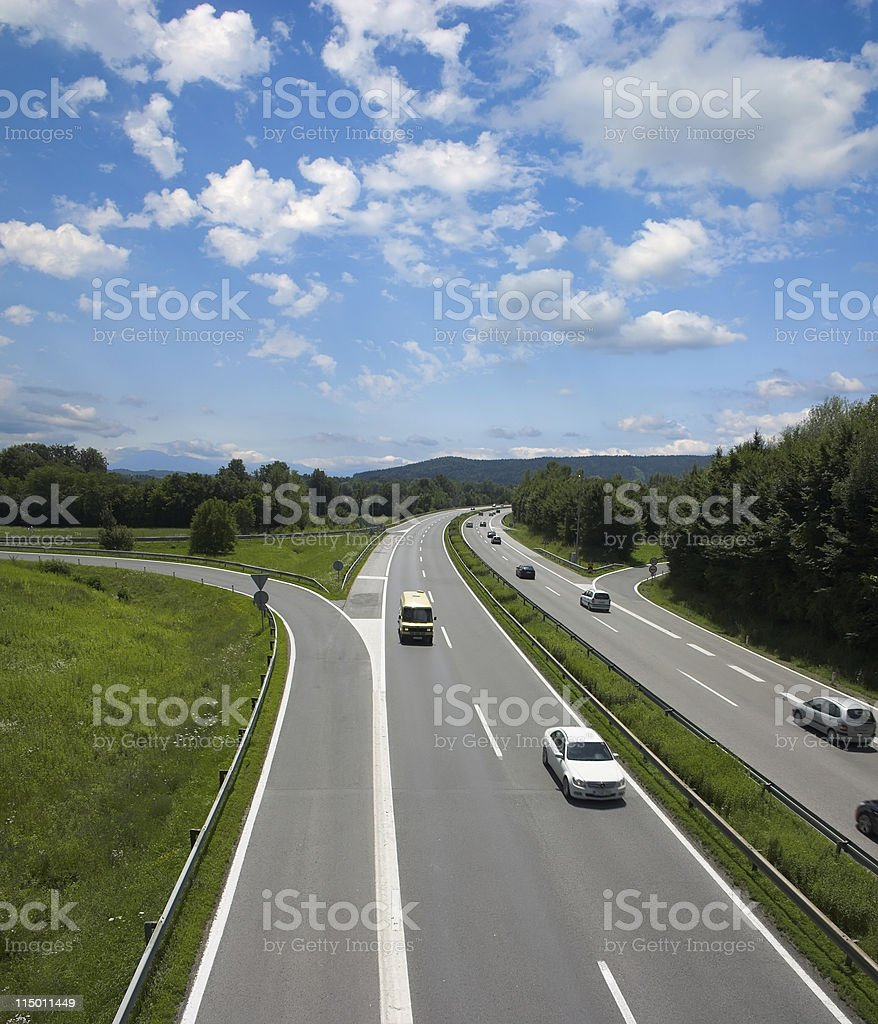 Highway, Europe, Slovenia royalty-free stock photo