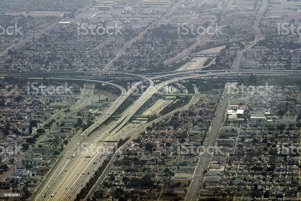 highway exchanger royalty-free stock photo